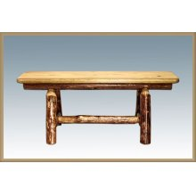 Glacier Country Log Small Plank Style Bench