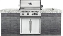 Built-In Prestige PRO 500 RB Stainless Steel with Infrared Rear Burner