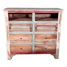 Multi COL.LOUVERED TV 6 Drawer
