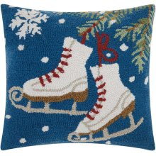 """Home for the Holiday Yx028 Multicolor 18"""" X 18"""" Throw Pillows"""