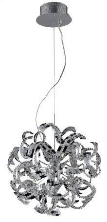 2068 Tiffany Collection Chandelier D:22in H:22in Lt:13 Chrome Finish (Elegant Cut Crystals)