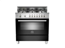 Black 36 6-Burner, Gas Oven