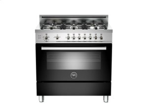 Black 36 6-Burner, Gas Oven