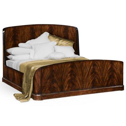 US King Biedermeier Mahogany Bed