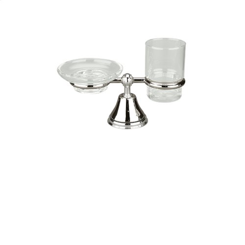 Countertop soap dish and tumbler holder