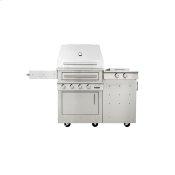 K500 Freestanding Hybrid Fire Grill with Side Burner