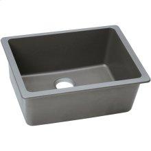 "Elkay Quartz Classic 24-5/8"" x 18-1/2"" x 9-1/2"", Single Bowl Undermount Sink, Greystone"