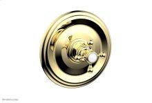 "HEX TRADITIONAL 1/2\"" Mini Thermostatic Shower Trim 4-097 - Polished Brass"