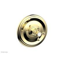 "HEX TRADITIONAL 1/2"" Mini Thermostatic Shower Trim 4-097 - Polished Brass"