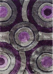 110 Gray Purple Rug