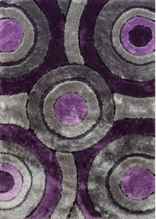110 Gray Purple Rug