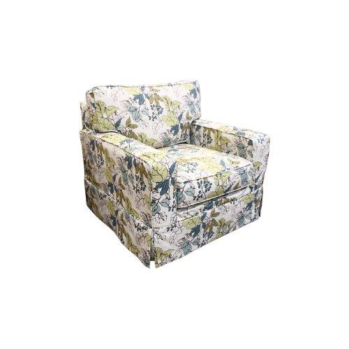 Upholstered Chair, Slip Cover, Non Skirted.