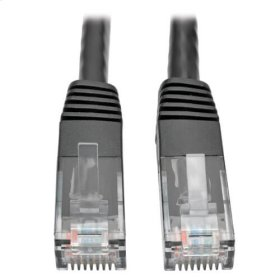 Premium Cat5/5e/6 Gigabit Molded Patch Cable, 24 AWG, 550 MHz/1 Gbps (RJ45 M/M), Black, 7 ft.