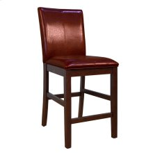 Curved Back Parson Stool-Red