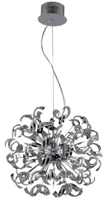 2068 Tiffany Collection Chandelier D:27.5in H:27.5in Lt:25 Chrome Finish (Elegant Cut Crystals)
