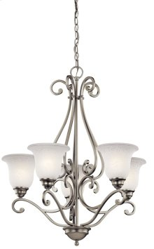 Camerena 5 Light Up Chandelier Brushed Nickel