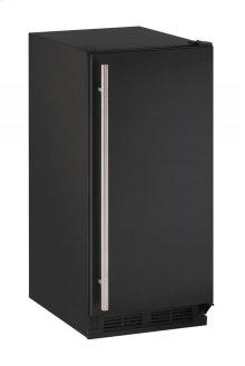"15"" Solid Door Refrigerator Black Solid Field Reversible"