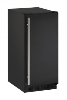 "15"" Solid Door Refrigerator Black Solid Field Reversible"