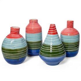 Fritjof Striped Vases - Ast 4