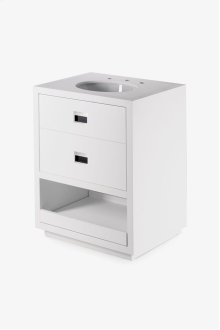 "Opus Single Wood / Corian Vanity 27"" x 21"" x 34 5/8"" STYLE: OPVN01"