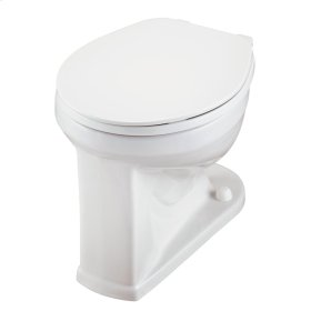 White North Point 1.28 or 1.6 Gpf Round Front Back Spud Bowl