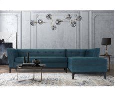 Jess Azure Textured Linen RAF Sectional Product Image