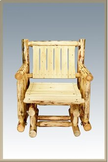 Montana Log Single Seat Glider - Exterior Finish