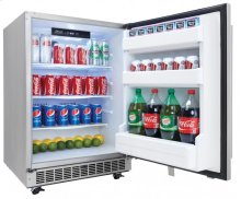 """Aragon 24"""" Outdoor Rated Refrigerator - Stainless Steel"""
