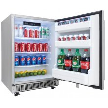 "Aragon 24"" Outdoor Rated Refrigerator - Stainless Steel"