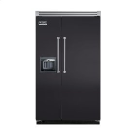 "Graphite Gray 48"" Side-by-Side Refrigerator/Freezer with Dispenser - VISB (Integrated Installation)"