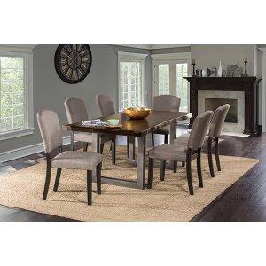 Hillsdale FurnitureEmerson 7pc Rectangle Dining Set - Gray Sheesham
