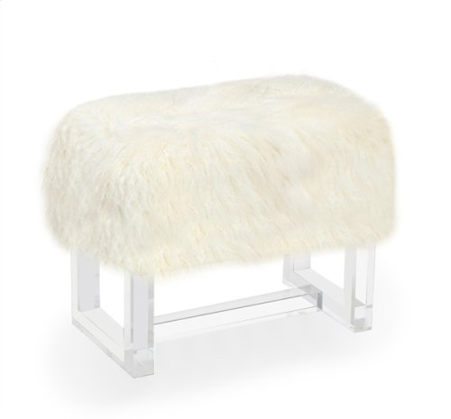 Avalon Stool - Ivory Sheepskin