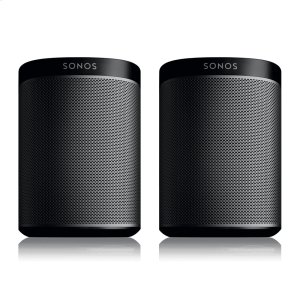 SonosBlack- A Play:1 pair for intense home theatre surround sound, or two separate rooms of great-sounding music.