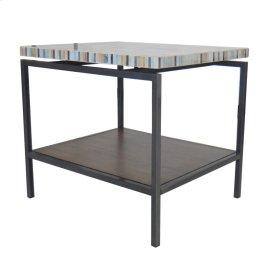 Avon KD End Table Graphite Metal Frame, Mosaic
