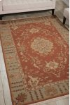 Nourmak S194 Rust Rectangle Rug 8'10'' X 11'10''
