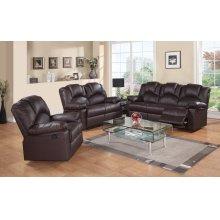 8001 Brown Power Reclining Sofa