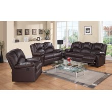 8001-L Brown Power Reclining Love Seat
