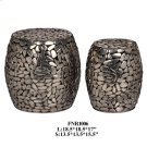 S/2 METAL PEBBLE STOOL, 1 SET / 4.63' Product Image