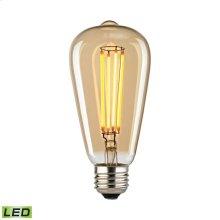 LED Bulb - Light Gold Tint, 4 Watts, E26 Medium Base, 2700K