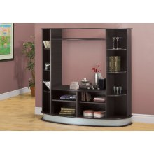 BOOKCASE - CAPPUCCINO WITH A SILVER BASE / STORAGE UNIT