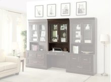 Library Glass Door Hutch