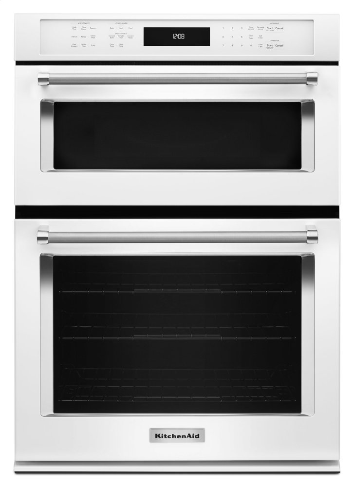 """Kitchenaid27"""" Combination Wall Oven With Even-Heat™ True Convection (Lower Oven) - White"""
