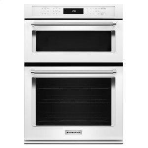 "Kitchenaid27"" Combination Wall Oven with Even-Heat True Convection (lower oven) - White"