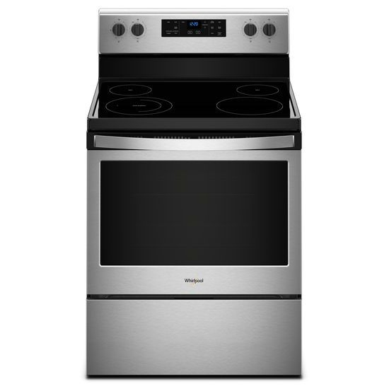 WhirlpoolWhirlpool® 5.3 Cu. Ft. Freestanding Electric Range With Adjustable Self-Cleaning - Black-On-Stainless