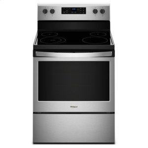 Whirlpool® 5.3 cu. ft. Freestanding Electric Range with Adjustable Self-Cleaning - Black-on-Stainless - BLACK-ON-STAINLESS