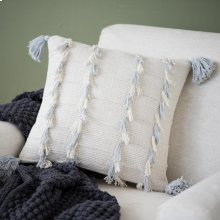 Grey Lillian Tassel Pillow