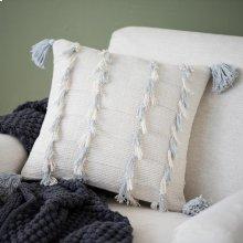 Grey Lillian Tassel Pillow