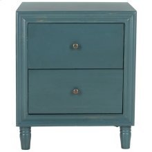 Blaise Accent Stand With Storage Drawers - Steel Teal
