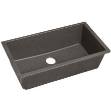 "Elkay Quartz Classic 33"" x 18-7/16"" x 9-7/16"", Single Bowl Undermount Sink, Slate"