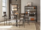 Jennings Round Counter Height Table W/ Metal Base and Non Swivel Stools Product Image